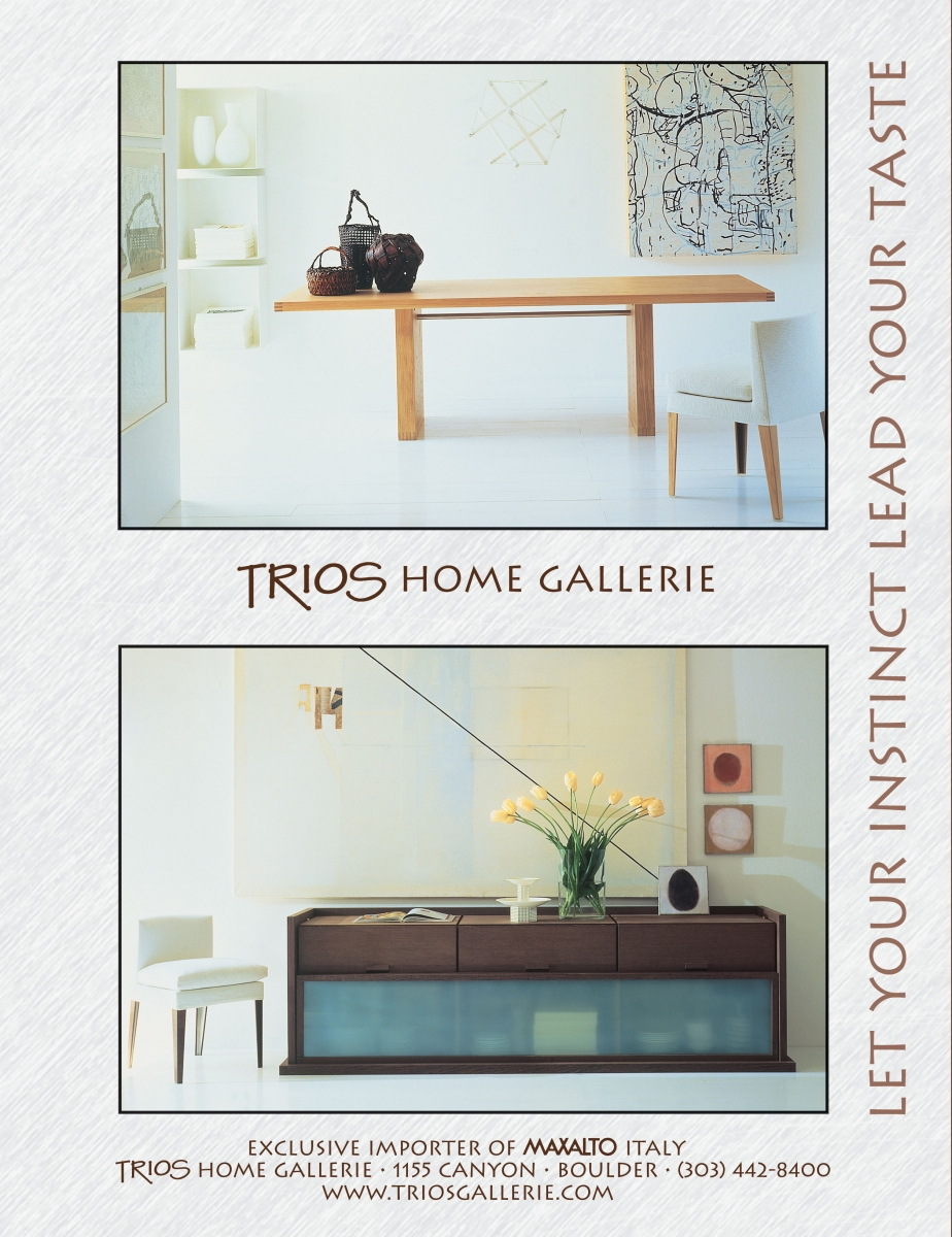 Trios Home Gallery ad - magazine