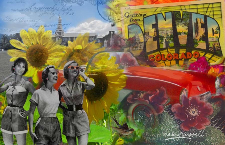 Dayton-to-Denver - Photoshop montage & Corel Painter